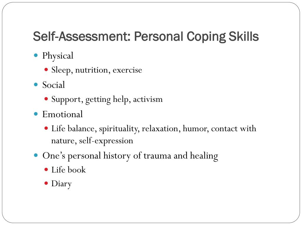 Self-Assessment: Personal Coping Skills