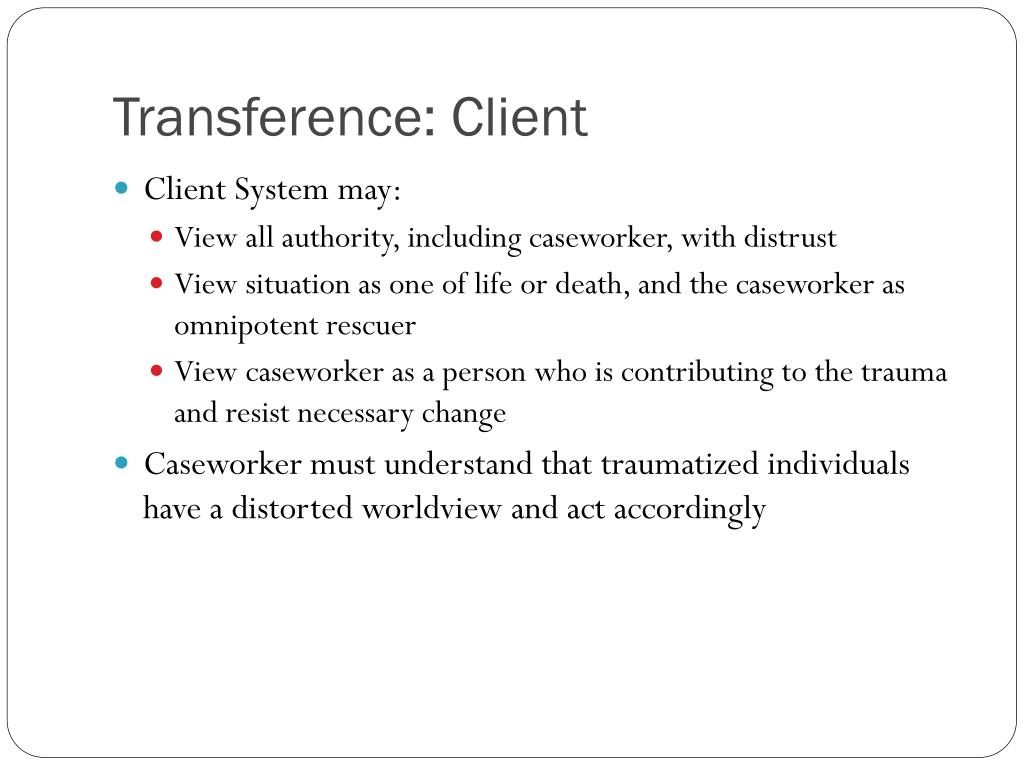 Transference: Client