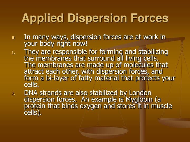 Applied Dispersion Forces