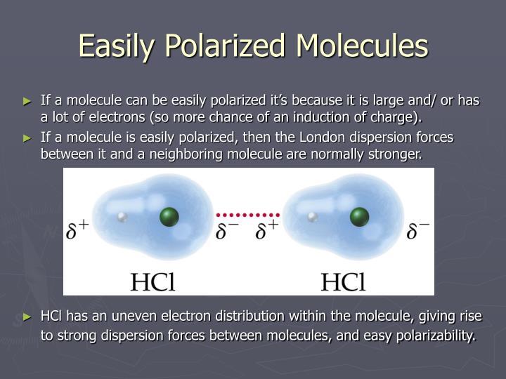 Easily Polarized Molecules