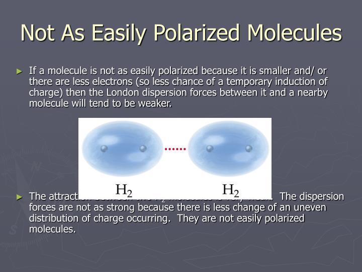 Not As Easily Polarized Molecules