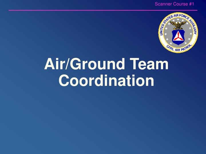 Air ground team coordination
