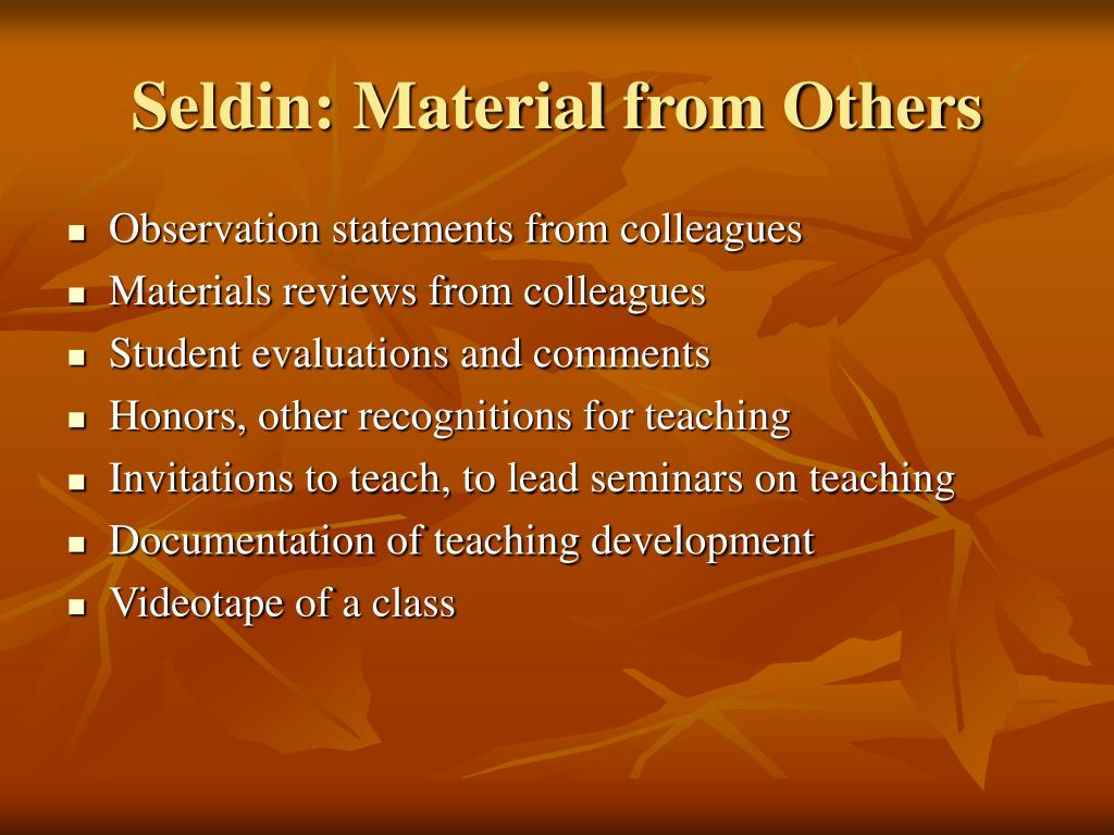 Seldin: Material from Others