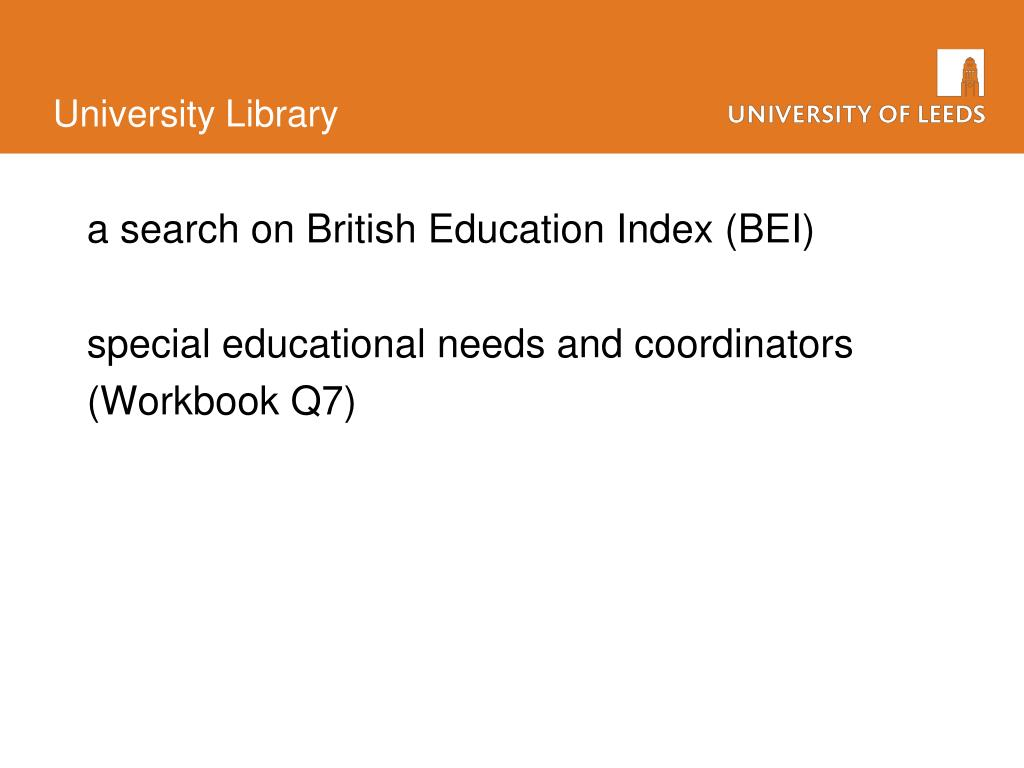 a search on British Education Index (BEI)