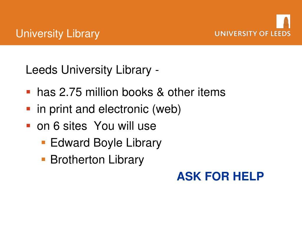 Leeds University Library -