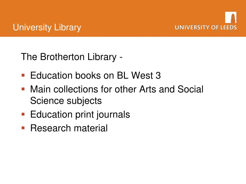 The Brotherton Library -