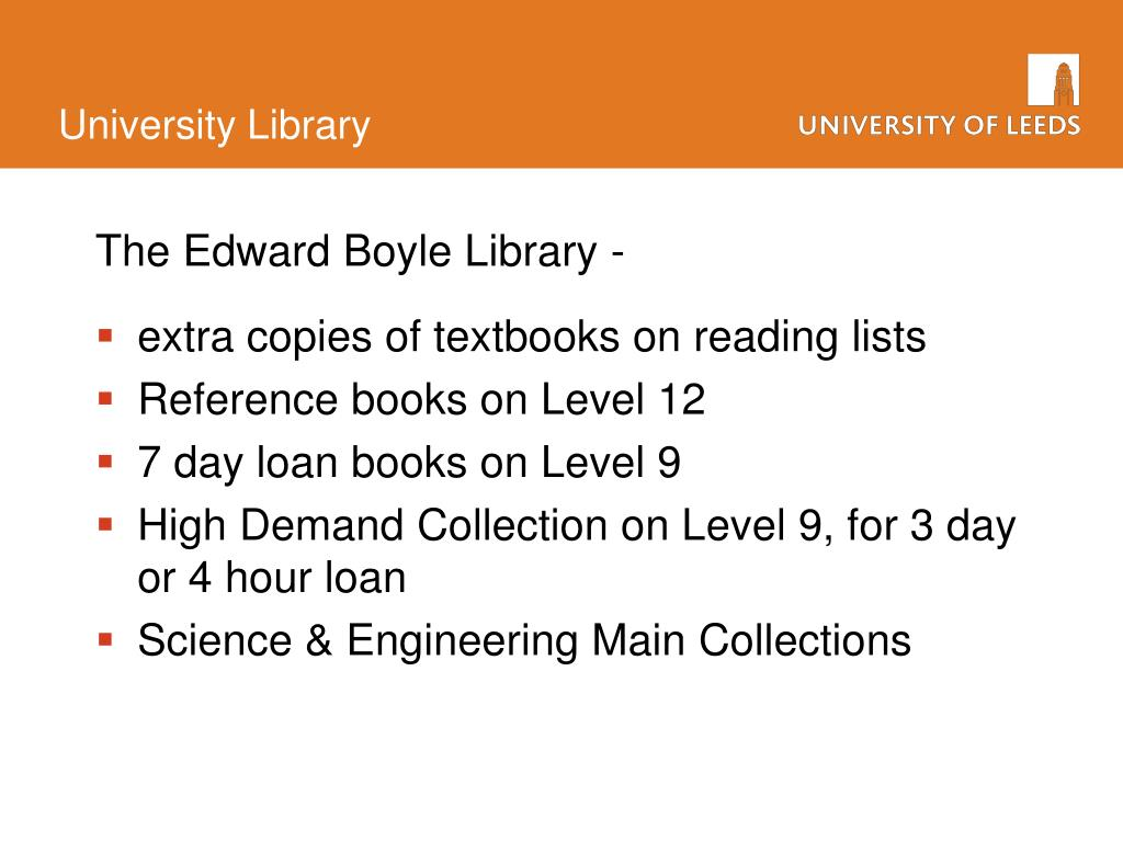 The Edward Boyle Library -