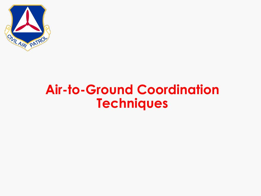 Air-to-Ground Coordination Techniques