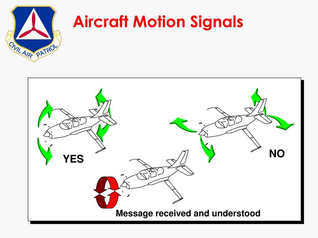 Aircraft Motion Signals