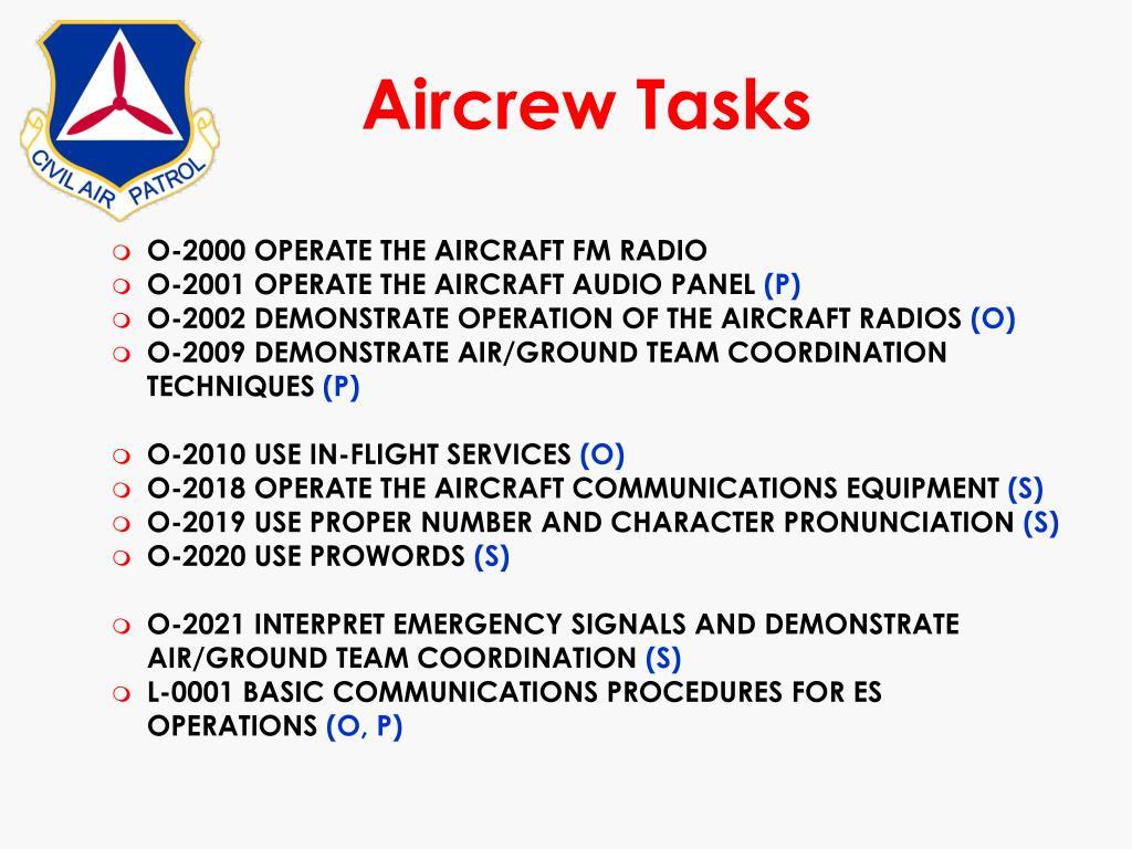 Aircrew Tasks