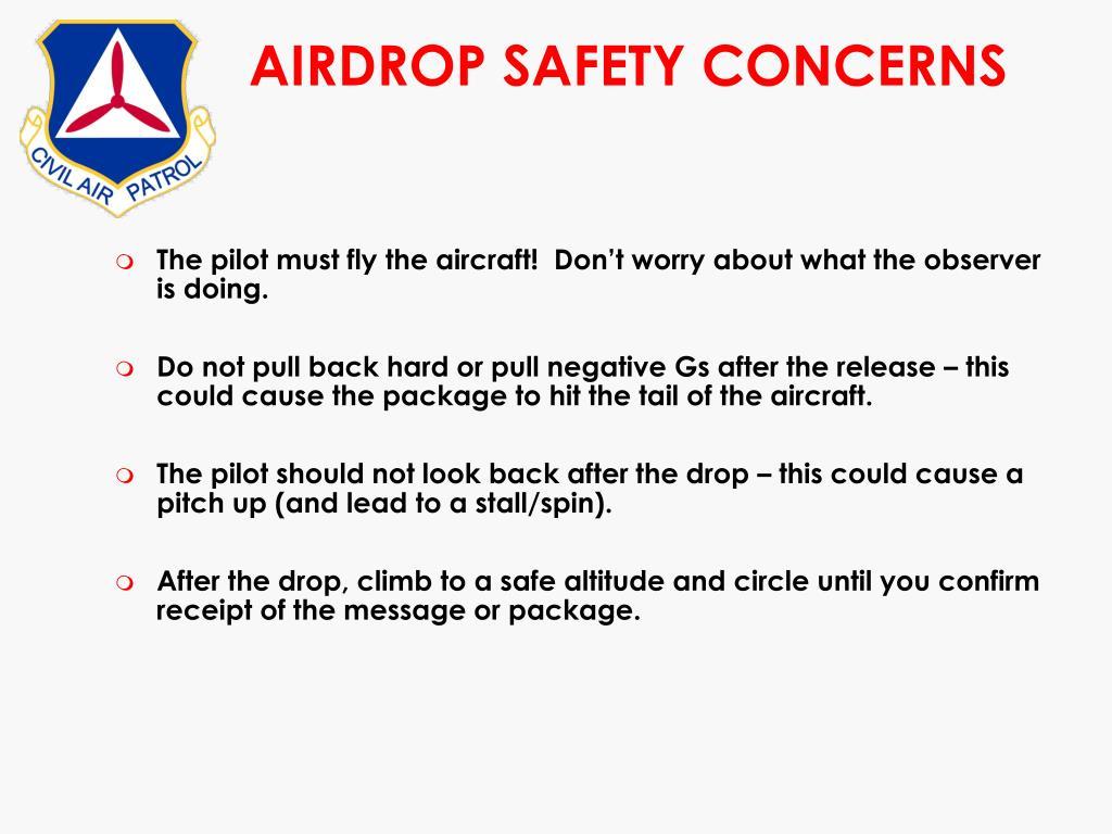 AIRDROP SAFETY CONCERNS