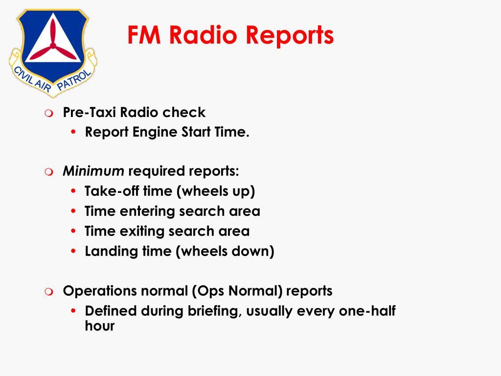 FM Radio Reports