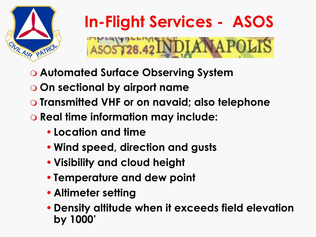 In-Flight Services -  ASOS