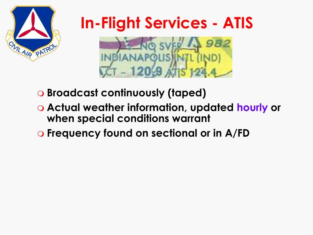 In-Flight Services - ATIS