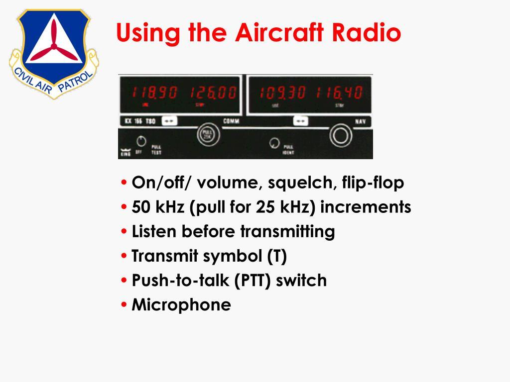 Using the Aircraft Radio
