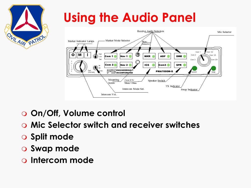 Using the Audio Panel
