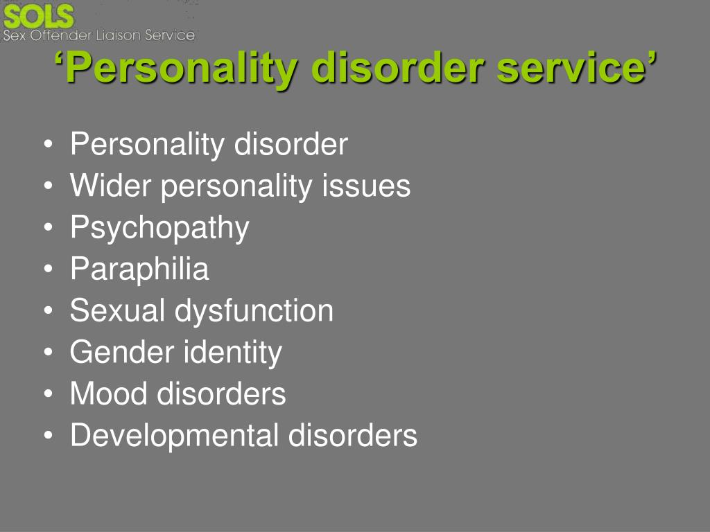 'Personality disorder service'
