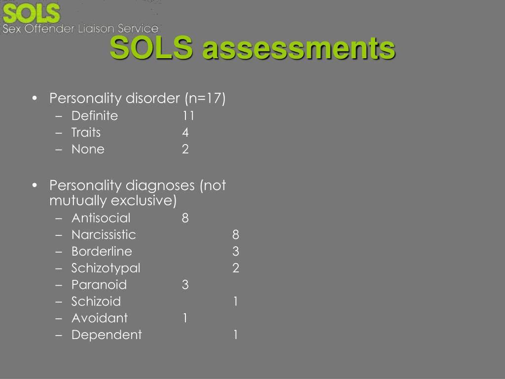SOLS assessments