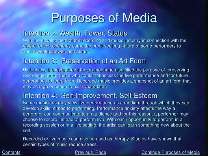 Purposes of Media
