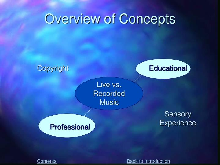 Overview of Concepts
