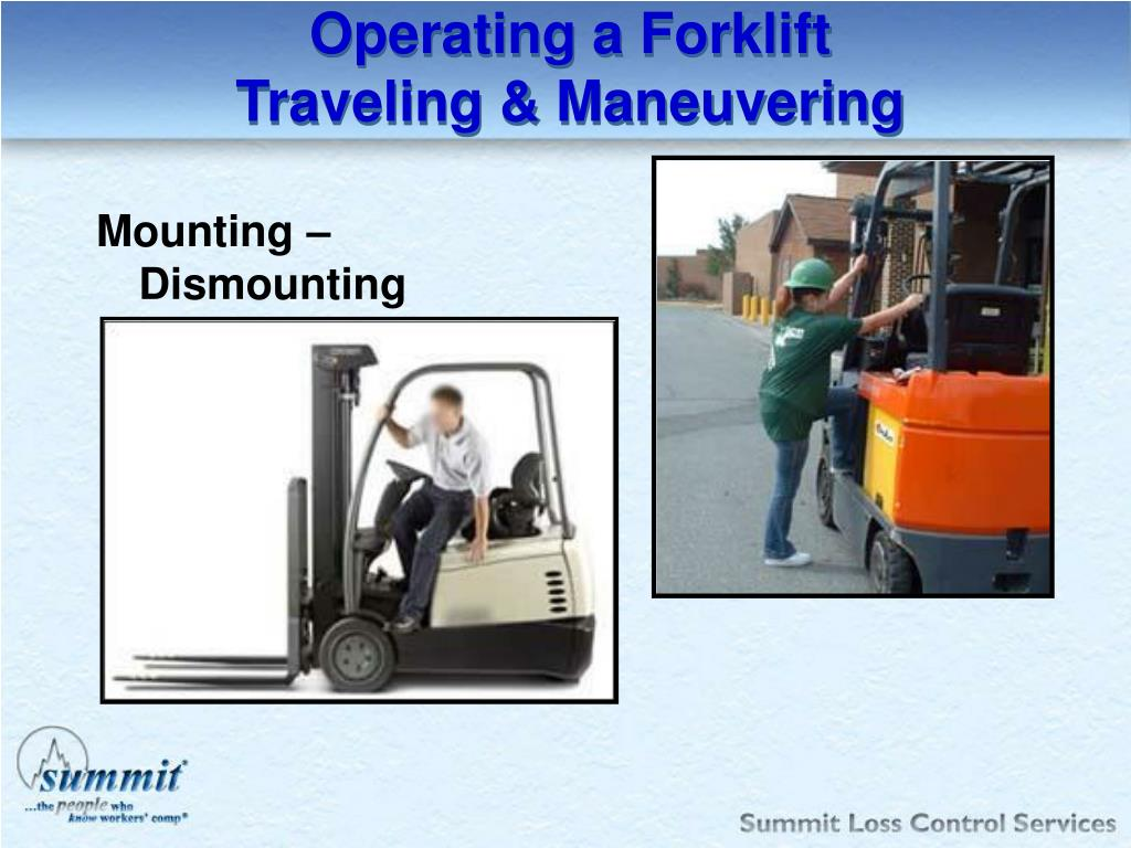 Operating a Forklift