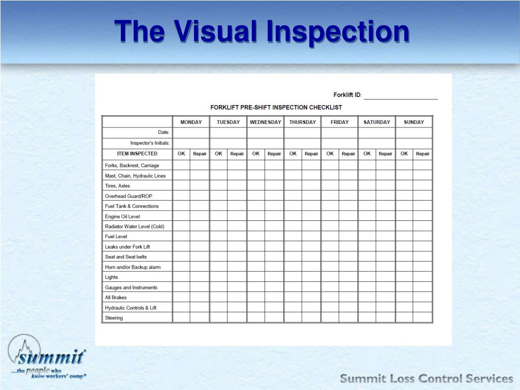 The Visual Inspection