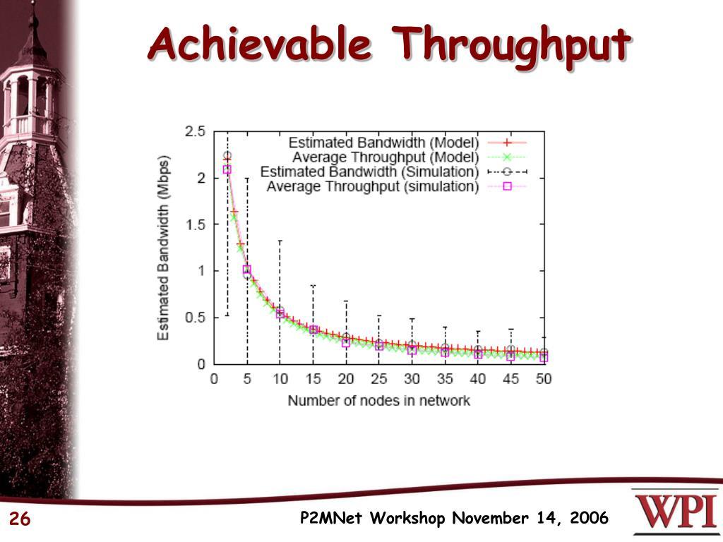 Achievable Throughput
