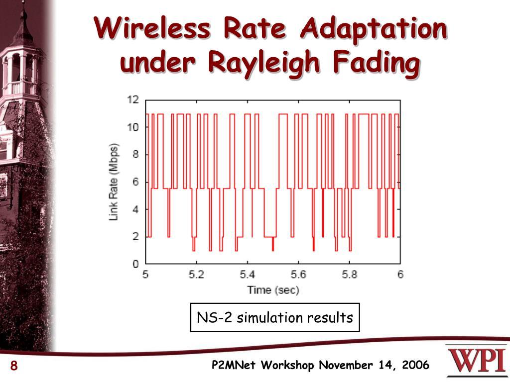 Wireless Rate Adaptation
