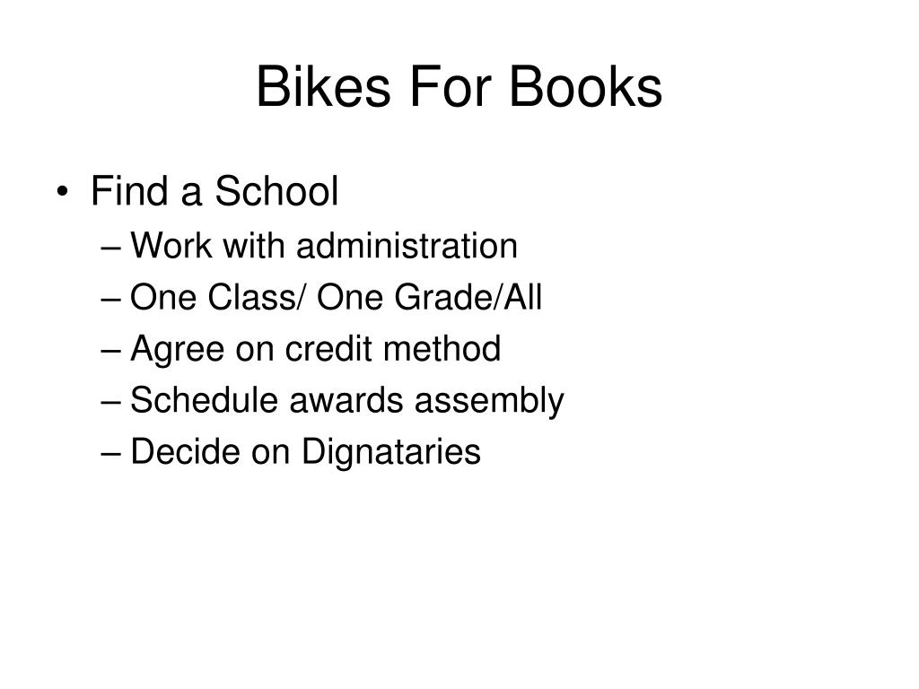 Bikes For Books