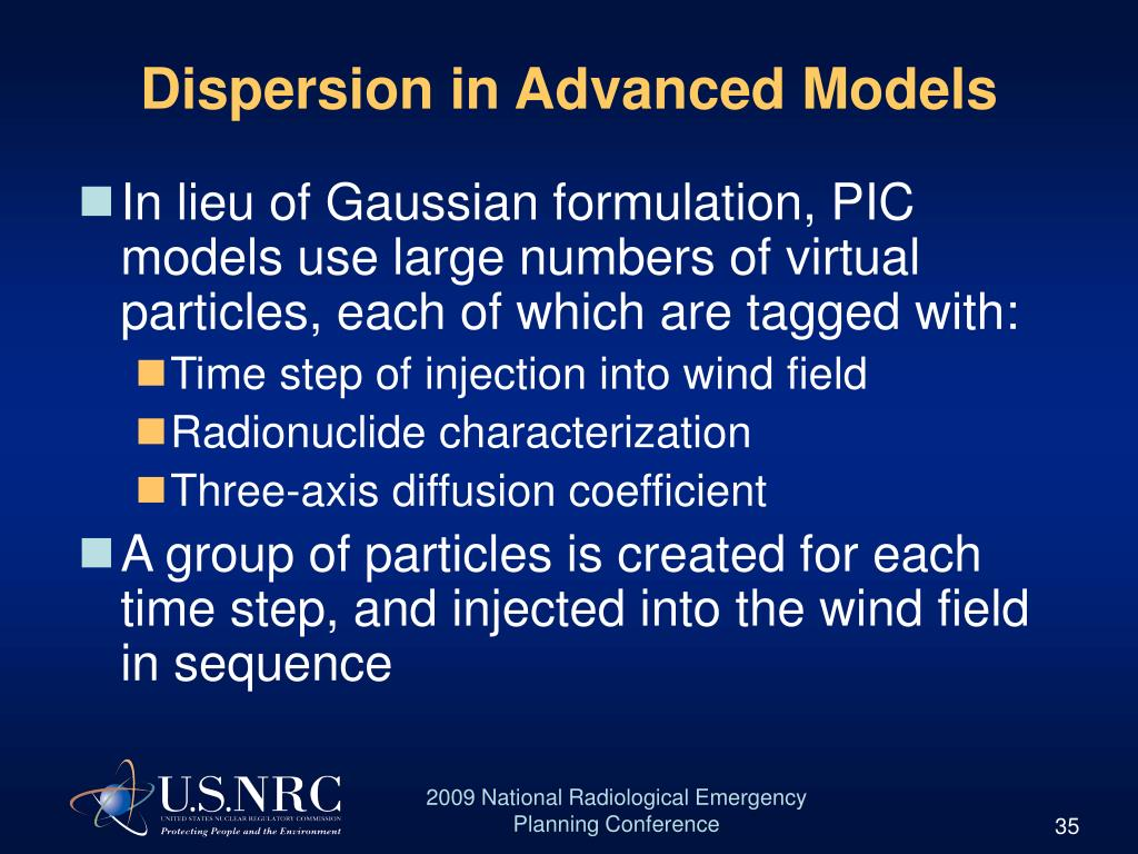 Dispersion in Advanced Models