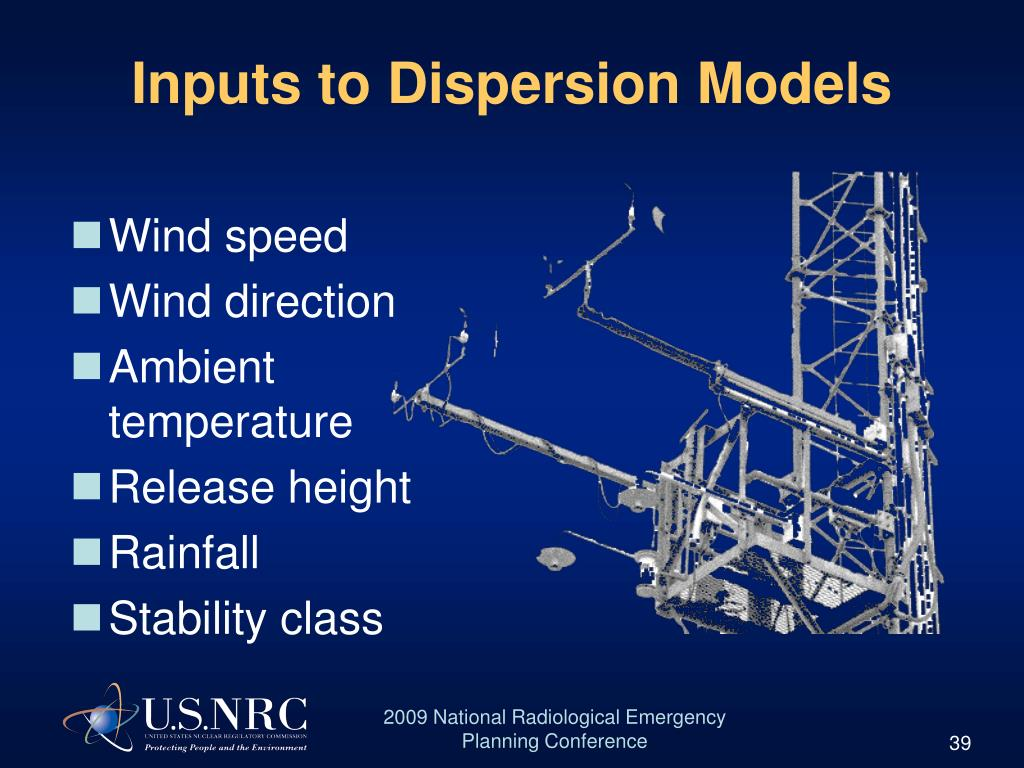 Inputs to Dispersion Models