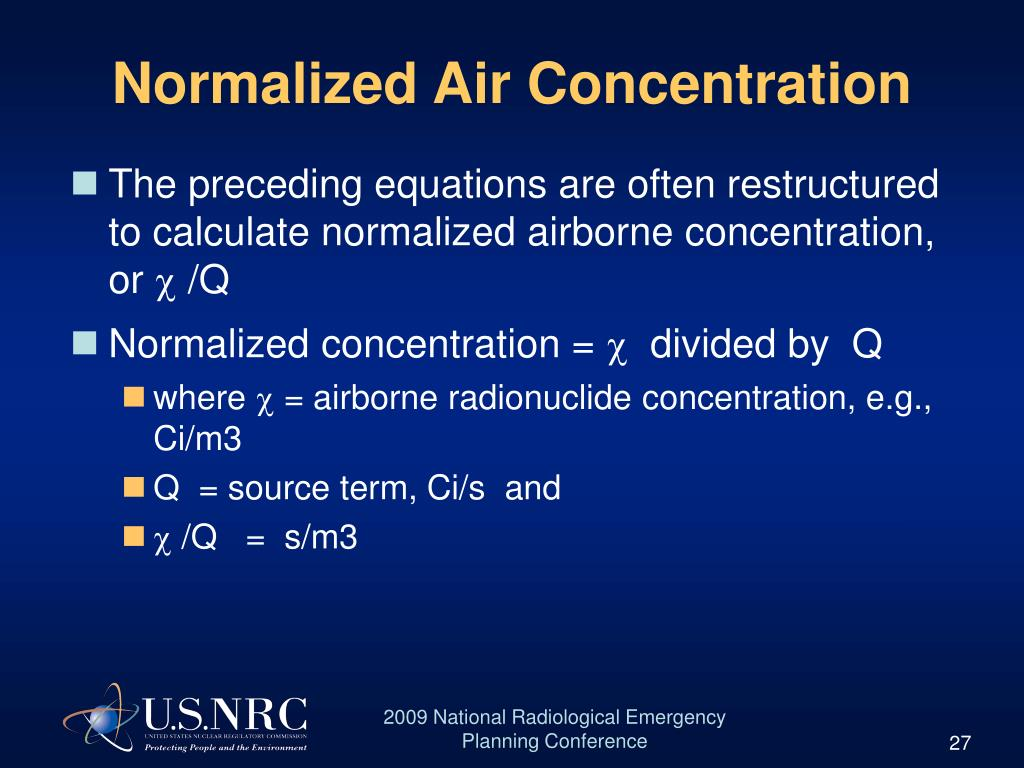Normalized Air Concentration