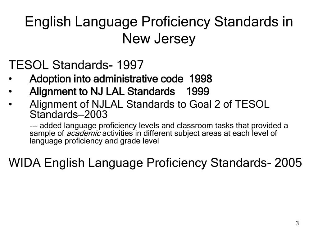 esl 533n aligning ell proficency standards Consortium english language proficiency standards for curriculum alignment to the wida english language english as a second language curriculum.