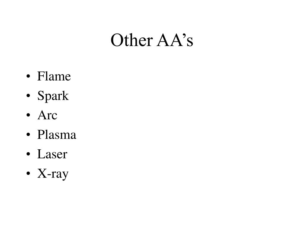 Other AA's