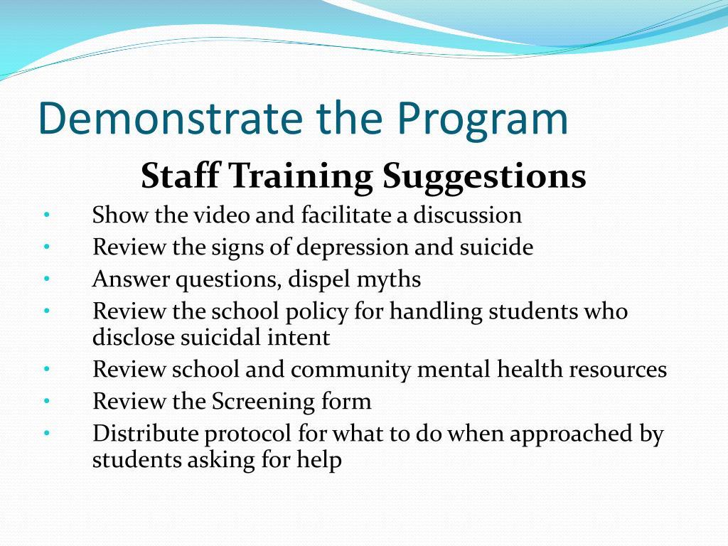 Demonstrate the Program