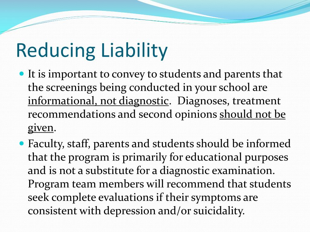 Reducing Liability