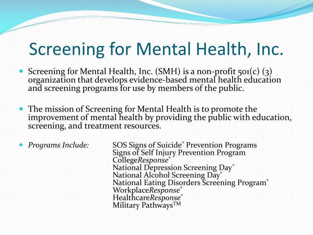 Screening for Mental Health, Inc.