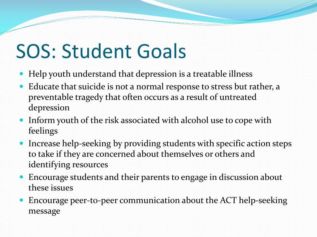 SOS: Student Goals