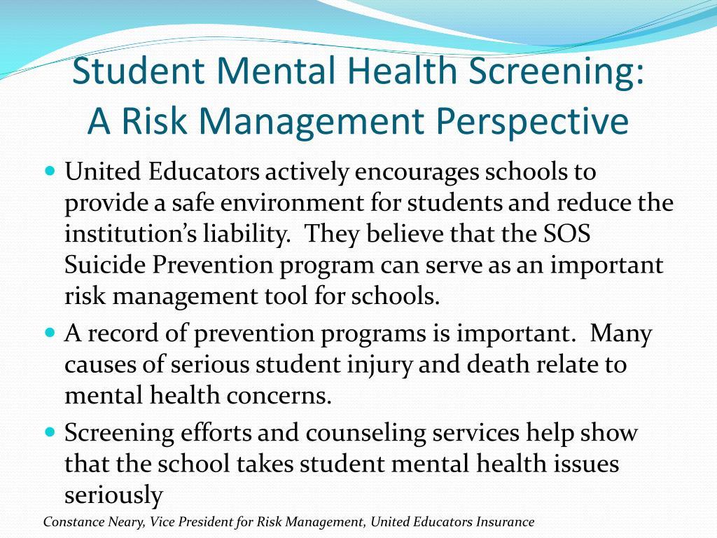 Student Mental Health Screening: