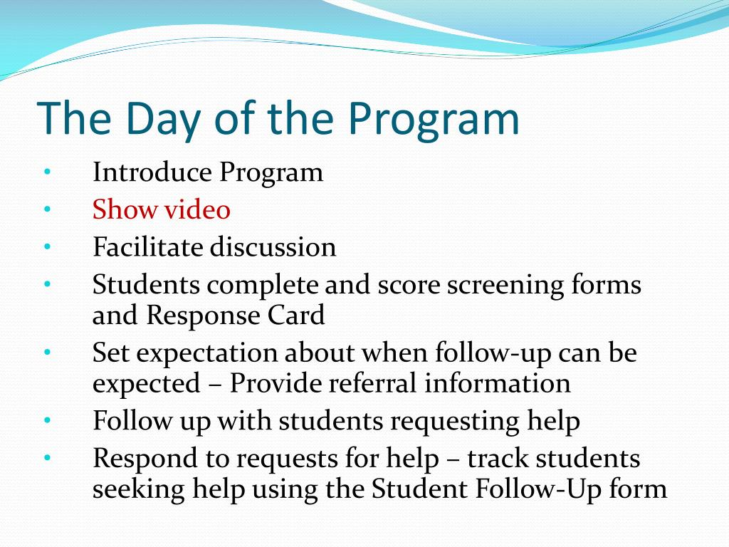 The Day of the Program