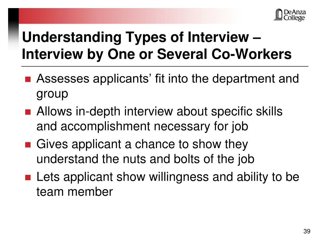 Understanding Types of Interview – Interview by One or Several Co-Workers