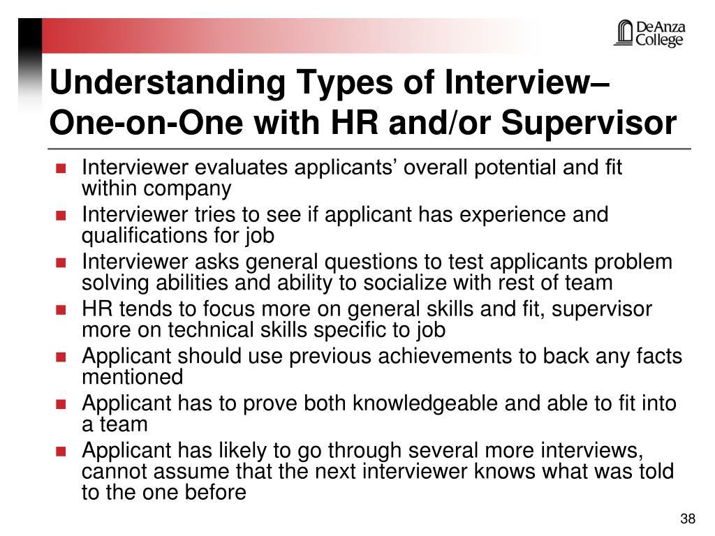 Understanding Types of Interview–