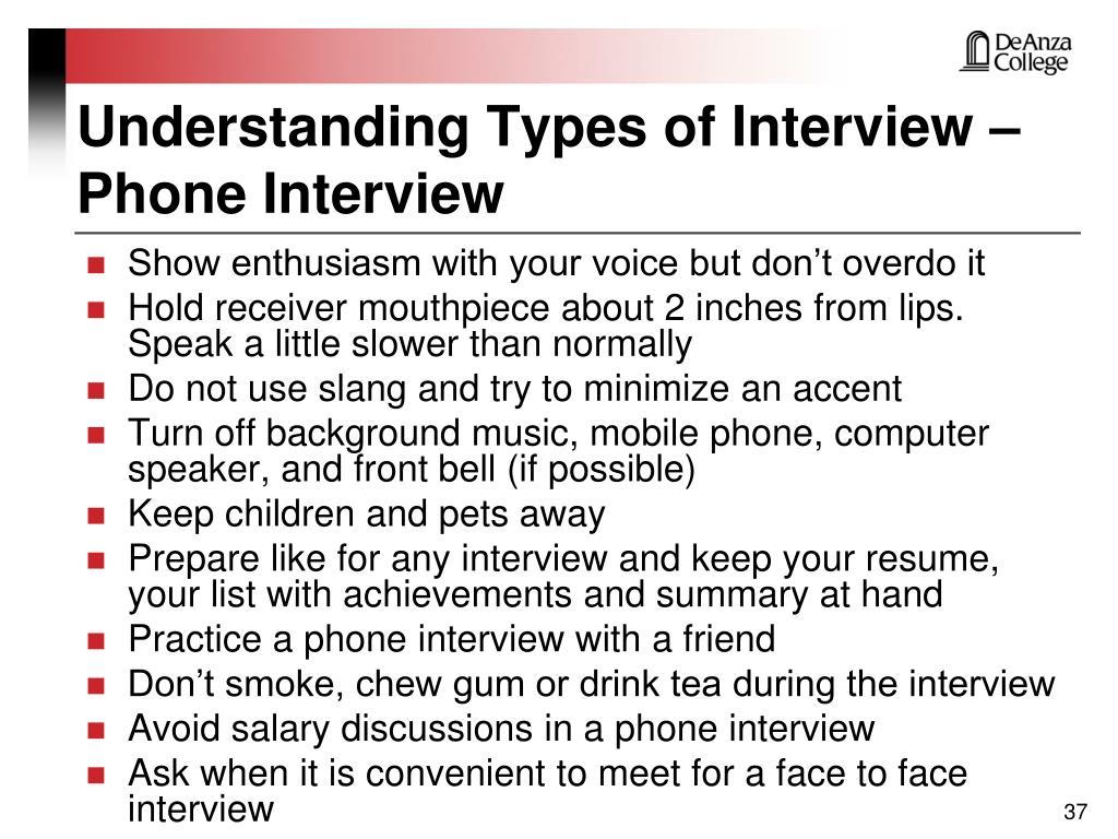 Understanding Types of Interview – Phone Interview