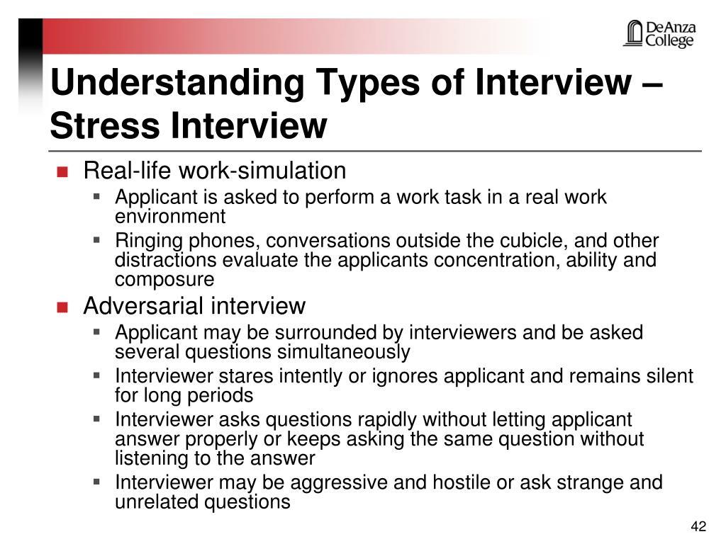 Understanding Types of Interview –