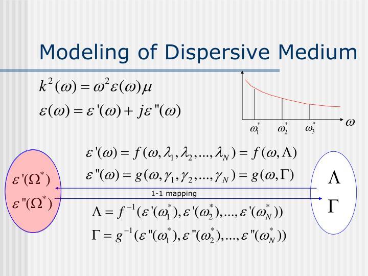 Modeling of Dispersive Medium