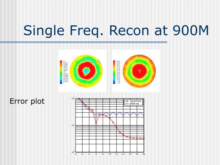 Single Freq. Recon at 900M