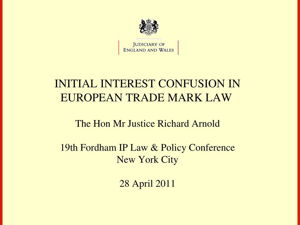 INITIAL INTEREST CONFUSION IN EUROPEAN TRADE MARK LAW