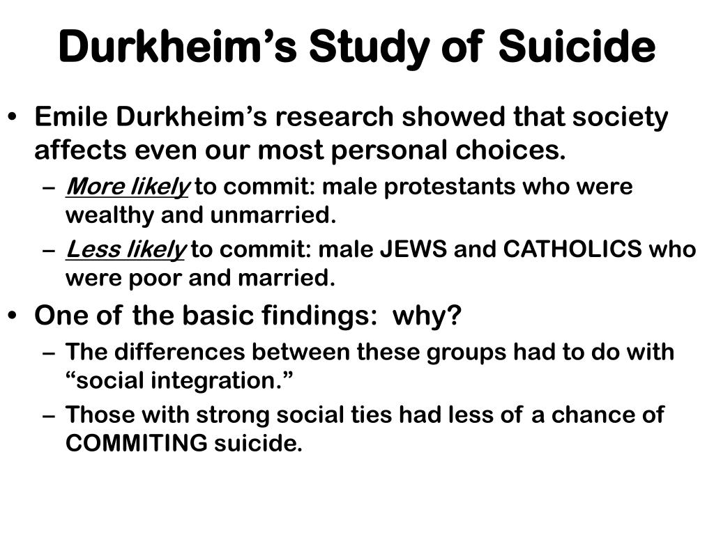 The Study of Suicide by Emile Durkheim - ThoughtCo