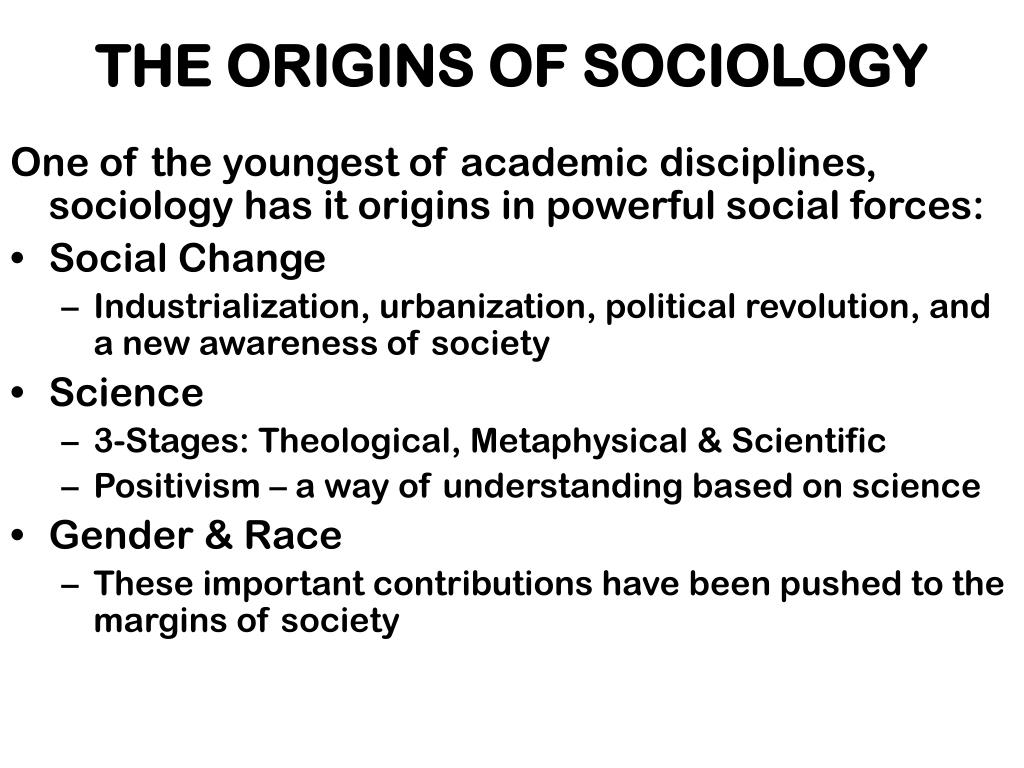 The Origins of Sociology - PowerPoint PPT Presentation