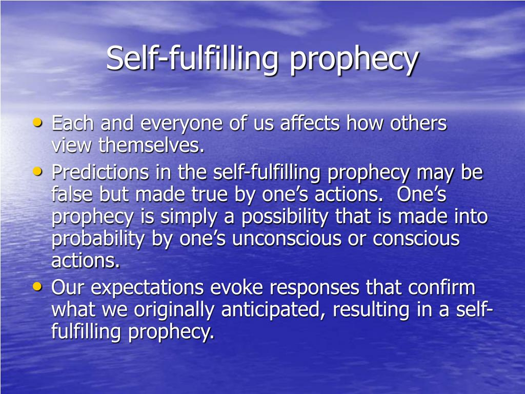 how to stop self fulfilling prophecy in relationships